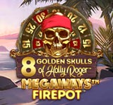 8 GOLDEN SKULLS OF THE HOLLY ROGER